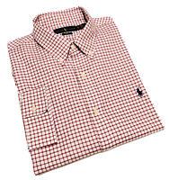 Ralph Lauren Men's Slim Fit Twill Cotton Shirt In Red/white Check Size XL/TG