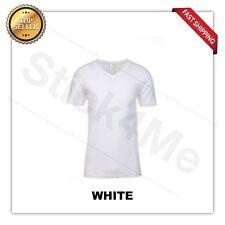 NEW MAN'S  V BLANK  T-SHIRT Premium Fitted V Neck Cotton Shirt Next Level 3200