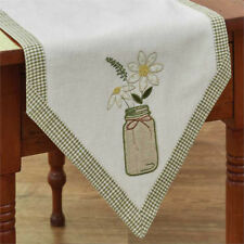 "Table Runner 42"" - Mason Jar by Park Designs - Kitchen & Dining - Daisy Daisies"