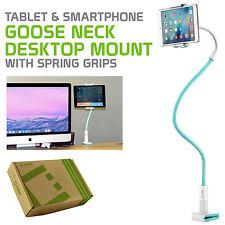 Tablet Smartphone Mount Holder Stand Adjustable Neck on Desktop Bed Flat Surface