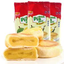 Snacks Food Durian Cake Liulianbing Pia零食特产小吃榴莲酥月饼点心糕点1.2kg 越南榴莲馅饼 新华园榴莲饼400g*3袋