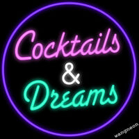 Cocktails and Dreams Neon Sign Beer Bar Pub Garage Light FAST FREE SHIPPING