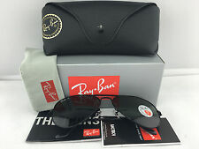 New Ray Ban Aviator RB3025 002/58 Black Solid Polarized Green Lens 58mm