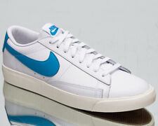 Nike Blazer Low Leather Men's White Laser Blue Sail Lifestyle Sneakers Shoes