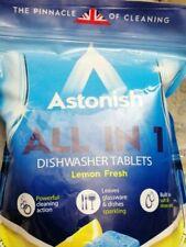 4 X Astonish all in 1  Dishwasher Tablets  Lemon Scent. Plus 1 Finish tablet..