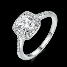 Classic 18k 18ct White Gold Filled CZ Woman Wedding Ring Size8  R-A329