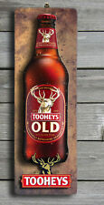 TOOHEYS OLD Rustic 3D LOOK Wooden BAR Plaque / Sign (FREE POST) Stubby Image