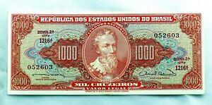 Brasil-Billete. 1000 Cruzeiros 1960. SC-/UNC-. Escaso