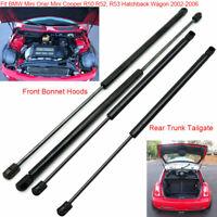For 2002-06 Mini Cooper R50/52/53 Hatchback Front Bonnet+Tailgate Gas Struts  x4