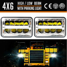 "Pair 4""x 6"" 15 LED Headlights LED Lights Bulb Head Lamp For Jeep Wrangler"