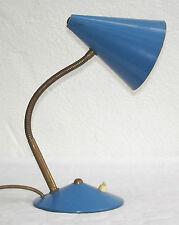 Vintage blaue 50er J. HELO Modernist Schreibtischlampe mit Funktion