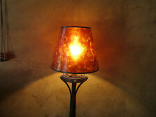 AMBER MICA SHADE for Chandelier Small Lamp Clip On flame light bulb shade