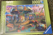 New Sealed Ravensburger Abandoned Series Gloomy Carnival 1000 Piece Puzzle