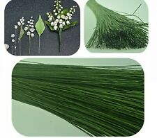 20PCS/lot 0.8mm Diameter Paper iron wire used for Nylon Flower Accessory Green