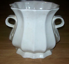 "NEW  RUSTIC HUTCH Pottery Creamy color  9 25 "" tall and 11"" wide 2 Handled Urn"