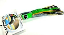 Black Bart Mini 1656 Angled Big Game Trolling Lure - Green Prism Green Black Dot
