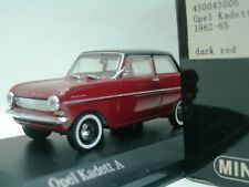 WOW EXTREMELY RARE Opel Kadett A Sedan 2d 1962 Red Black 1:43 Minichamps-Rekord
