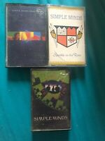 3 x Simple Minds Cassette Tape Job Lot -real Life - Street Fighting Years - Spar