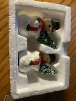 "Dept 56 Snow Village - ""A Tree For Me"" Set Of 2  #5164-0"