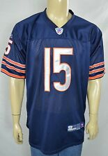 Reebok Authentic Chicago Bears Blue #15 Marshall Football Jersey Sz 50 SEWN