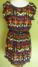 Ladies Womens Casual Sleeveless Round Neck Skater Dress Hot Options Size 12 BNWT
