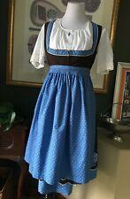 Vtg AUSTRIA ORIGINAL WURZER DIRNDL Embroidered Dress Blouse Apron Oktoberfest 42
