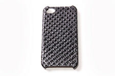 Elegant Women Black Quilted Look Protective iPhone 4/4S Case (S583)