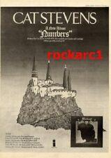 "CAT STEVENS Numbers LP & tour dates 1975  UK Poster size Press ADVERT 16x12"""