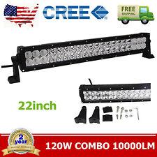 "22"" 120W CREE LED Work Light Bar Spot Offroad Fog Driving Lamp Truck Jeep Auto"