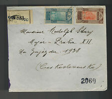 1931 French Guinee cover to Czechoslovakia AOF Registered