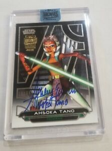 2018 STAR WARS SIGNATURE ARCHIVES AHSOKA TANO ON CARD AUTO ASHLEY ECKSTEIN #/34