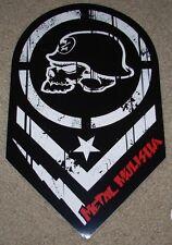 "METAL MULISHA Skull Helmet Puncture Skate Sticker 12"" motocross skateboard decal"
