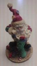 Christmas/Holiday Santa Figurine W/Stocking Full Of Presents