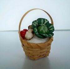 1:12 - Puppenhaus - Miniatur Korb mit Gemüse