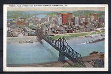 Tolle Ansichtskarte Geschäftsviertel mit Hochhäusern in Pittsburg (Pittsburgh)