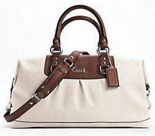 NWT Coach F15447 Ashley Leather Large Bark Satchel Shoulder Hand Bag Women Gift