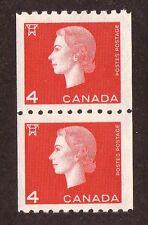 Canada--#408 MNH--Queen Elizabeth II Coil Pair--1963