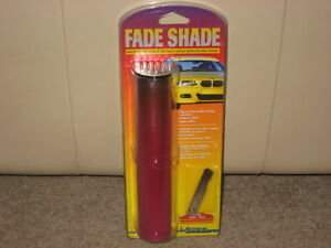 "NEW 8""x6' FADE SHADE WINDOW TINT STRIP AUTO WINDSHIELD RED/PINK BUY 2 GET 1 FREE"