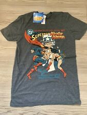 DC Superman vs Wonder Woman T-shirt authentic licensed justice league batman