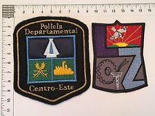 2 ORIGINAL POLICE LUJAN ZAMORA PATCHES SET COLLECTION PATCH ARGENTINA 80s 90s