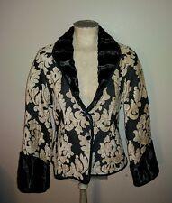 khangura black label tapestry faux velvet fur floral jacket blazer coat  l lg