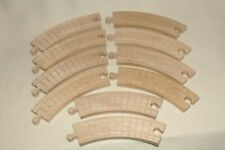 "Thomas Tank Engine /Brio 'Clickety"" Track Pack -10 Pc. Curved 7"" Track -Used/Vg"