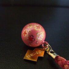 JAPANESE OMAMORI SHIRASAKI Charm Good luck SAKURA Cherry tree BELL Pink