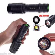 4000LM Zoomable Cree XML T6 LED 5 Modes Police Flashlight Lamp Torch Black Light
