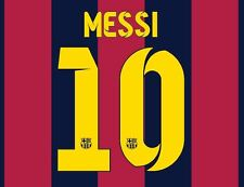 No 10 Messi Barcelona 2014-2015 Home Football Nameset for shirt