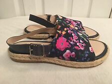 Clarks Ladies Flat Summer Sandals Treacle Spice Floral Fabric UK 5 New