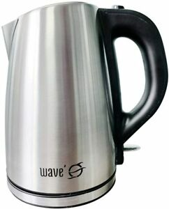 New WAVE O Stainless Steel Electric Cordless 1.8L Tea Kettle 1000W HOT Water Pot
