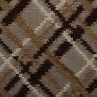 Brown Beige Aztec Chenille Velvet Cross Check Curtain Cushion Upholstery Fabric