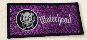 Motorhead logo oblong vintage 1980s SEW ON PATCH