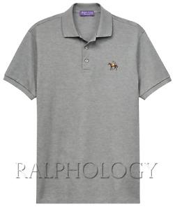 $350 Ralph Lauren Purple Label Pony Equestrian Custom Slim Fit Pique Polo Shirt